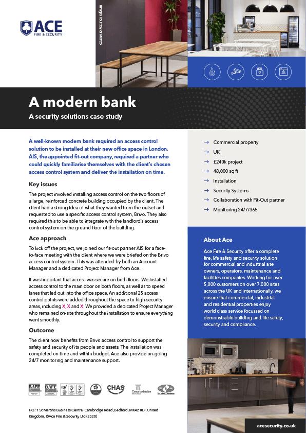 A modern bank