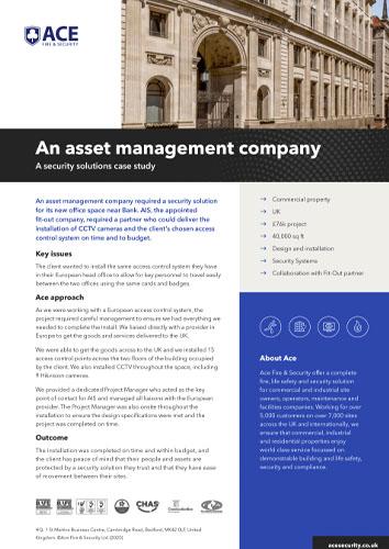 An asset management