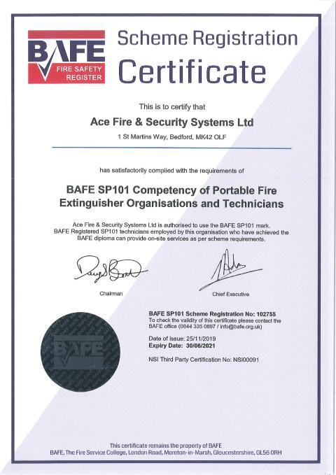 BAFE SP101 Certificate Thumbnail