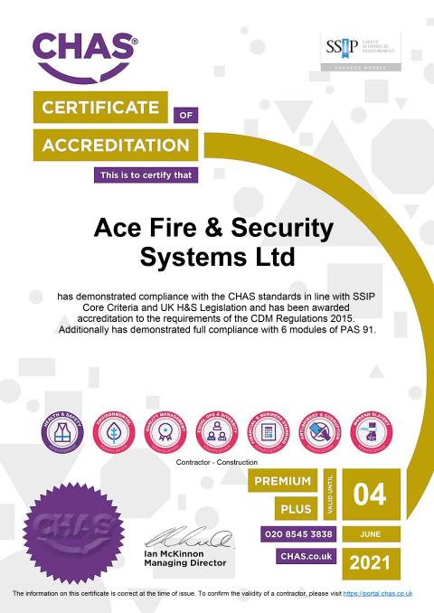 CHAS Premium Plus Certificate Thumbnail