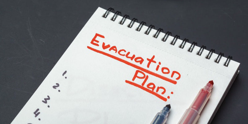 Picture of an evacuation plan